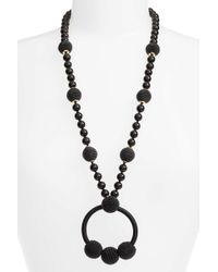 Kate Spade - The Bead Goes On Pendant Necklace - Lyst