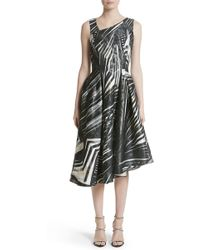 Rubin Singer | Metallic Print Asymmetrical Dress | Lyst
