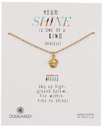 Dogeared - 14k Gold Vermeil Your Shine Cupcake Bracelet - Lyst