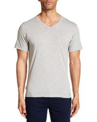 CALVIN KLEIN 205W39NYC - Slim Fit Cotton V-neck Tee - Lyst