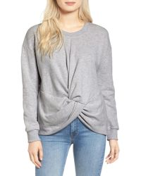 Sincerely Jules - Knot Front Sweatshirt - Lyst