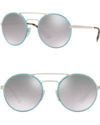 5e60098190ac Prada - 54mm Round Catwalk Sunglasses - Lyst