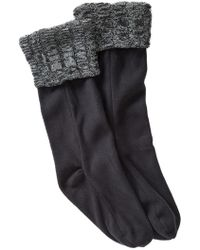 Steve Madden - Fleece & Cable Knit Boot Liners - Lyst