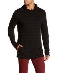Velvet - Stripe Hooded Pullover - Lyst