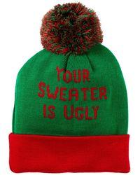 Bioworld | Ugly Sweater Cuffed Beanie | Lyst