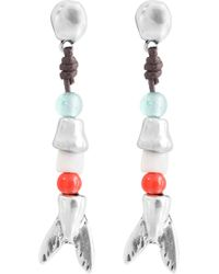 Uno De 50 - Triton Colorful Stacked Drop Earrings - Lyst