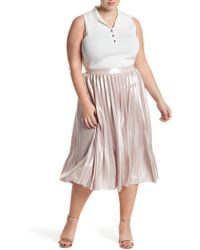 Rachel Roy - Pleated Lame Skirt (plus Size) - Lyst