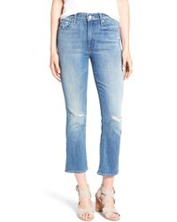 Mother | 'the Insider' High Rise Crop Bootcut Jeans | Lyst