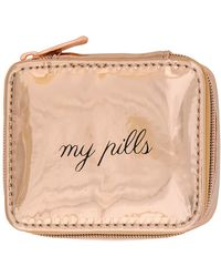 MIAMICA - Rose Gold Oil Slick Pill Case - Lyst