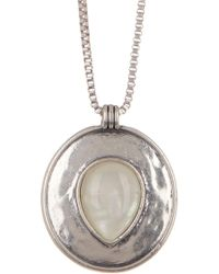 Lucky Brand - Reversible Circle Pendant Necklace - Lyst