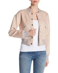 Fate - Faux Suede Varsity Jacket - Lyst