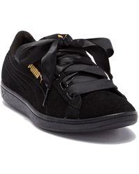 buy popular 8268e 1b5c2 PUMA - Vikky Suede Ribbon Sneaker - Lyst