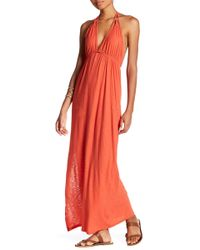 Michelle By Comune - Strap Detail Halter Neck Maxi Dress - Lyst