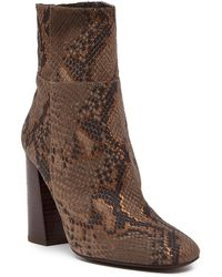 Free People - Nolita Snake Embossed Ankle Boot - Lyst