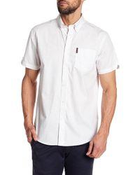 Ben Sherman - Short Sleeve Geo Print Regular Fit Shirt - Lyst