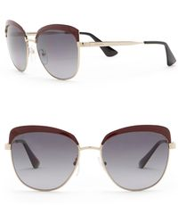 Prada - 56mm Square Catwalk Sunglasses - Lyst