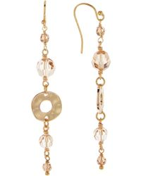 Chan Luu - 18k Gold Plated Sterling Silver Faceted Swarovski Crystal Accented Drop Earrings - Lyst