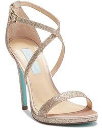 Betsey Johnson - Andi Glitter High Heel Sandal - Lyst