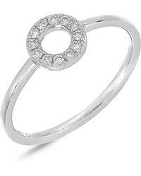 Bony Levy - 18k White Gold Geometric Diamond Circle Ring - 0.11 Ctw - Lyst