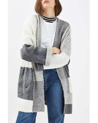 TOPSHOP - Patchwork Cardigan - Lyst