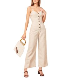 7cc50475c14 Lyst - Reformation Kayla Jumpsuit in Natural