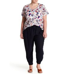 Joe Fresh - Linen Blend Joggers (plus Size) - Lyst