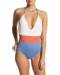 Tavik - Colorblocked Halter One-piece Swimsuit - Lyst