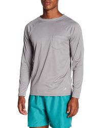 TRUNKS SURF AND SWIM CO - Long Sleeve Pocket Swim Tee - Lyst