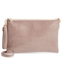 Evelyn K - Large Textured Pouch Clutch - Lyst