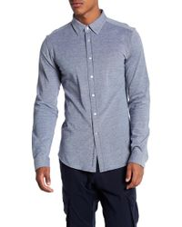 Knowledge Cotton Apparel | Front Button Woven Shirt | Lyst