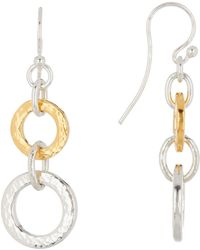 Gurhan - 24k Gold & Sterling Silver Two-tone Double Tapered Hoopla Earrings - Lyst