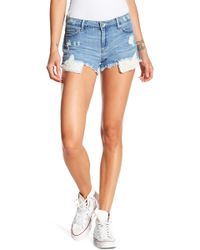 Tractr - Faux Pearl Super Destructed Shorts - Lyst