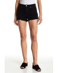 Amuse Society | Kenzie Frayed High Rise Button Fly Shorts | Lyst