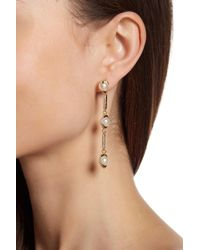 Vince Camuto - Linear Glass Pearl Earrings - Lyst