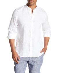 Tocco Toscano - Long Sleeve Solid Linen Shirt - Lyst