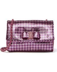 686f0aa8f276 Lyst - Ferragamo Shoulder Bag - Gelly Quilted in Purple