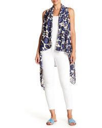 Roffe Accessories - Blue Floral Duster Vest - Lyst