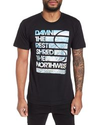Casual Industrees - Damn The Rest Trail Map T-shirt - Lyst