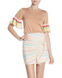 Tularosa - Ellie Striped Ruffle Cropped Sweater - Lyst