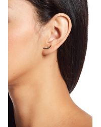 Freida Rothman - Two-tone Black Stone Ear Climber Earrings - Lyst