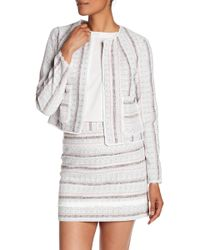 Laundry by Shelli Segal - Striped Tweed Jacket - Lyst