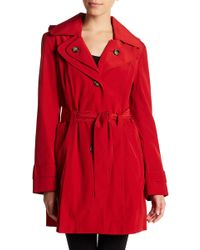 London Fog - Missy Hooded Trench Coat - Lyst
