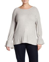 Lucky Brand - Tie Sleeve Knit Jumper - Lyst