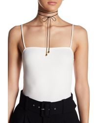 Elizabeth and James - 24k Gold Plated Leather Dottie Choker - Lyst