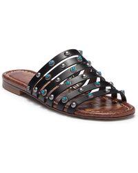 e52ed9475d10 Lyst - Sam Edelman Brea 2 Leather Flat Sandals in Brown