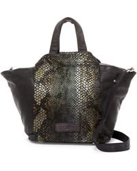 Liebeskind Berlin - Baraka Snake Embossed Leather Satchel - Lyst