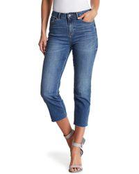 Vero Moda - Raw Hem Ankle Jeans - Lyst