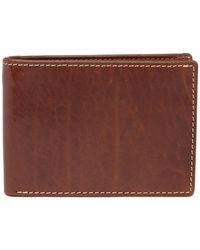 Bosca - Vermont Leather Slim Bi-fold Wallet - Lyst