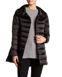 Save The Duck - Long Iridescent Quilted Coat - Lyst
