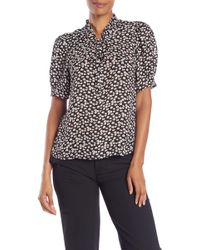 Cece by Cynthia Steffe - Mayfair Ditsy Floral Blouse - Lyst